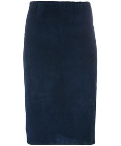 STOULS | Gilda Pencil Skirt Small Cotton/Suede/Spandex/Elastane/Lyocell