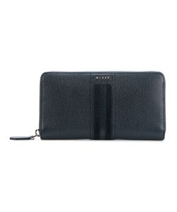 Bally | Striped Zip Around Wallet