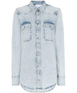 3366f633ca9c63b Calvin Klein Jeans - Джинсовая Рубашка В Ковбойском Стиле С Карманами  Клапанами