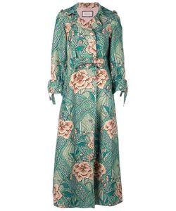 122375b92 Женское Желтый Pintucked Butterfly-Embellished Belt Coat Gucci 1184708