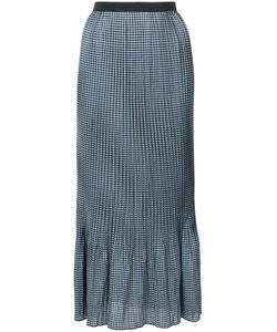ADAM SELMAN | Checkered Maxi Skirt Women