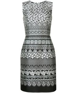 Oscar de la Renta | Print Sleeveless Shift Dress