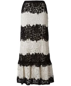 Red Valentino | Lace A-Line Skirt 44 Cotton/Polyester
