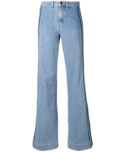 Victoria, Victoria Beckham   Victoria Victoria Beckham Side Stripe Flared Jeans