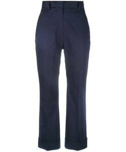 Jil Sander | High Rise Cropped Pants 32 Cotton/Spandex/Elastane