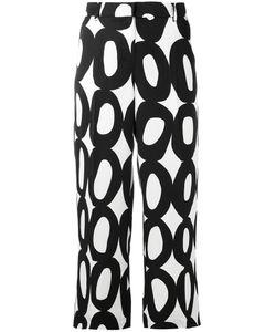 'S Max Mara | S Max Mara Geometric Print Cropped Trousers Size 40