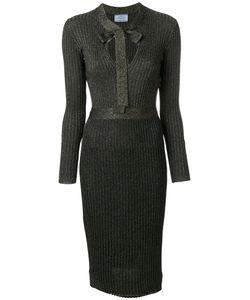 Prada | Платье С Горловиной С Завязкой На Бант