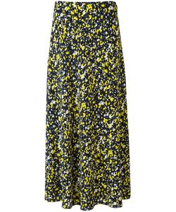 Cedric Charlier | Cédric Charlier Foral Print Midi Skirt 44 Silk