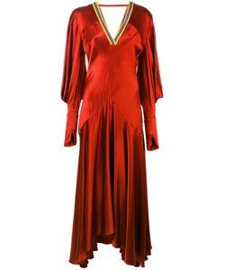 ROKSANDA | Gathered Sleeve V-Neck Dress