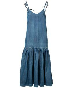 Co | Dropped Waist Denim Dress Size Small