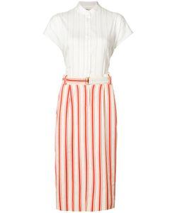 Michel Klein | Belted Stripe Midi Skirt Size