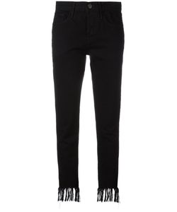 3X1   Frayed Cropped Jeans 26 Cotton