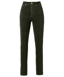 Amapô | High Waist Velvet Skinny Trousers Size 38
