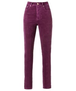 Amapô | Velvet High Waist Skinny Trousers Size 38