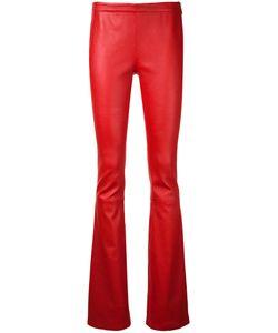 Pierre Balmain | Bootcut Leather Trousers 40 Lamb Skin