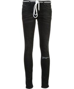 OFF-WHITE | Auction House Stripe Print Jeans 29 Cotton/Spandex/Elastane
