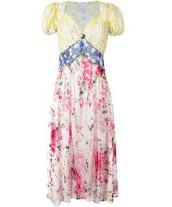 ATTICO   Panelled Print Maxi Dress