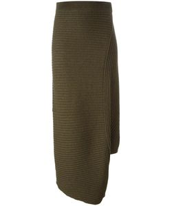 J.W. Anderson | J.W.Anderson Asymmetric Ribbed Skirt Small Merino