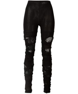 JUNYA WATANABE COMME DES GARCONS | Junya Watanabe Comme Des Garçons Distressed Leggings Cotton/Acrylic/Nylon/Wool