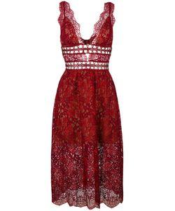 For Love & Lemons | For Love And Lemons Sheer Lace Midi Dress Xs