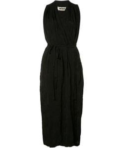 UMA WANG | Sleeveless Wrap Dress Medium Cupro