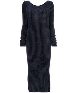 Helmut Lang | Ребристое Платье С Длинными Рукавами