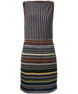 Missoni | Boatneck Striped Fitted Dress 42 Nylon/Polyester/Cupro/Viscose