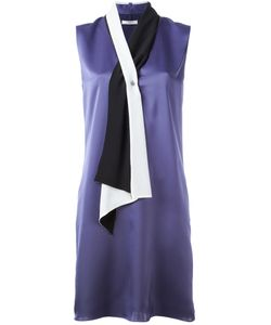 Lanvin | Scarf Neckline Dress 38 Polyester/Silk