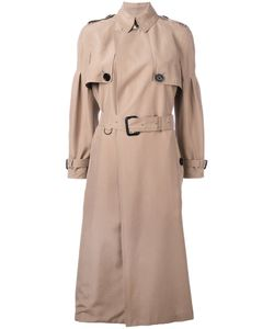 Burberry   Belted Trench Coat 10 Silk/Acetate/Viscose