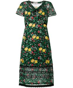 COACH | Print Semi-Sheer Dress