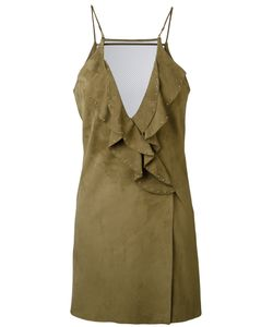 Jitrois | Ruffled Dress 36 Lamb Skin/Cotton/Spandex/Elastane/Polyester
