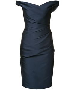 Monique Lhuillier | Off Shoulder Dress 8 Silk/Polyester/Polyimide/Spandex/Elastane