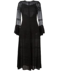 Saint Laurent | Bell Sleeve Broderie Anglaise Dress 38