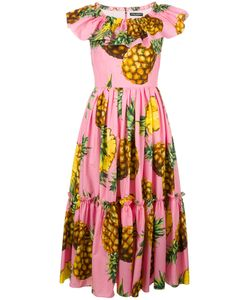 Dolce & Gabbana | Pineapple Print Dress 40 Cotton