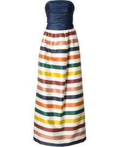 Carolina Herrera | Striped Bustier Gown 2 Silk/Cotton