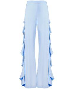 Sara Battaglia   Draped Side Detail Trousers Size 42