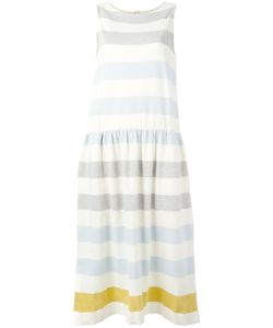 Chinti And Parker | Gathe Waist Striped Dress Xs