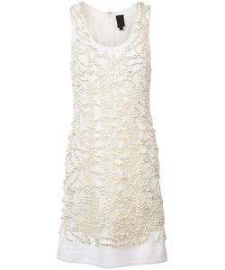 Vera Wang | Embroidered Pearls Dress Size 6