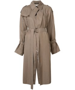 Y'S | Belted Trench Coat 1 Cupro/Cotton/Linen/Flax