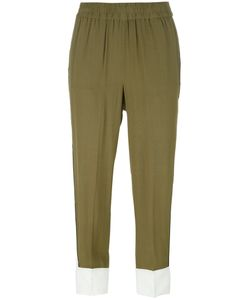 Twin-set | Bicolour Cropped Trousers 46 Viscose/Polyester