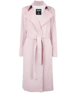 MSGM | Belted Wrap Coat 38 Polyester/Cotton/Linen/Flax