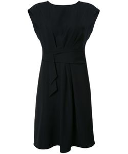 Armani Collezioni | Belted Draped Dress 44 Polyester