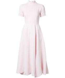 Emilia Wickstead | Fla Short Sleeve Dress 8 Silk/Viscose/Cotton/Polyamide