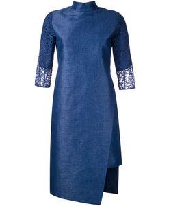 TARO HORIUCHI | Mandarin Neck Asymmetric Dress 1 Polyester/Cotton