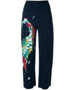 Norma Kamali | Geometric Print Cropped Trousers Size Small