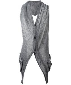 Masnada | Back Slits Cardigan Medium Linen/Flax/Viscose