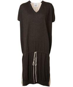 UMA WANG | Drawstring T-Shirt Dress Medium Cashmere/Silk