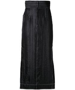 G.V.G.V.   Contrast Stitch Maxi Skirt 34 Nylon/Polyester/Rayon