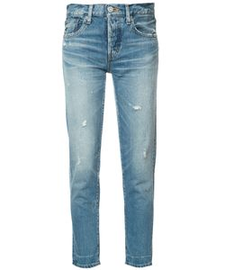Moussy | Tape Cropped Jeans 31 Cotton