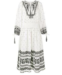 Zimmermann | Декорированное Платье С Длинными Рукавами